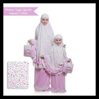 GRATIS ONGKIR Mukena Couple Spandek Sakinah (Ibu+Anak) - PINK NEW