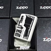 ZIPPO LIGHTER / MANCIS KOREK API ZIPPO ORIGINAL - JACK DANIELS WHITE