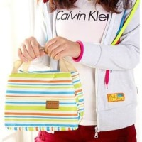 Keren Cooler Bag Asi Natural Mom Salur /Lunch Bag Tahan Panas Dingin
