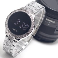 NEW ORI JAM TANGAN WANITA FOSSIL DIGITAL BEST SELLER - SILVER
