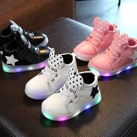 Sepatu Flat dengan Lampu LED Anti Slip untuk Bayi Laki-laki /