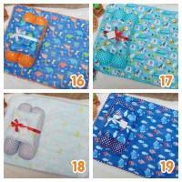 EKSKLUSIF Kado Bayi Baby Bedding Set 4in1 Matras Perlak Set Bantal P