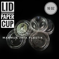 [ LID - 16 OZ ] LID TUTUP DATAR PAPERCUP 16 OZ ISI 50 PC