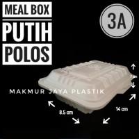 [ MEAL BOX SEKAT 3A ] TEMPAT WADAH KEMASAN MAKANAN TAHAN PANAS