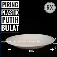 [ RX ] PIRING PLASTIK PUTIH BENTUK BULAT