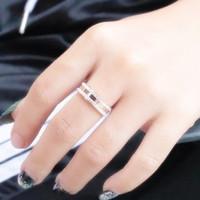 Cincin Wanita Korea Cartier Diamond Full Titanium Premium Quality