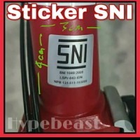 Ready Stock Sticker Stiker Brompton SNI Sepeda Lipat Folding Bike OCC