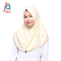 Jilbab Afra Arfa Syifa Non Pet Krem Kuning Hijab Pashmina Instan