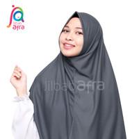 Jilbab Afra Pashmina Instan Syifa Abu Tua Bahan Kaos Non Pet