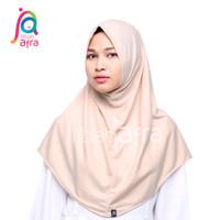 Jilbab Arfa Syifa Non Pet Krem Coklat Pashmina Instan