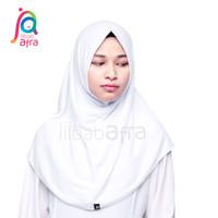 Jilbab Afra Syifa Non Pet Putih Hijab Pashmina Instan
