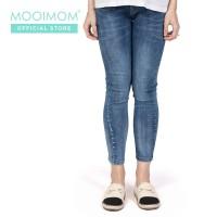 MOOIMOM Maternity Jeans Navy - Celana Jeans Ibu Hamil Navy