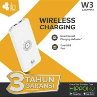 Hippo ILO W3 Powerbank 12000 mAh Wireless / Fast Charging Original