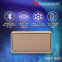 Nakamichi NBS 901 Speaker Portable Wireless Bluetooth-GOLD