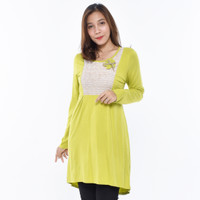 LUSINAN V6582 Kaos Tunik Wanita Lengan Panjang Atasan Cewek Premium