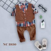 GROSIR NC 419 SET ANAK CORDUROY PANTS &VEST LILKIDS
