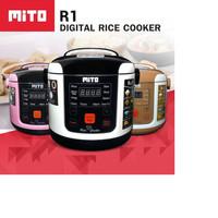 Mito digital rice cooker 1L 8in1/magic com mito - Cokelat Muda