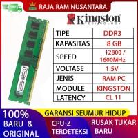 RAM PC KINGSTON DDR3 8GB 12800 / 1600MHz ORI RAM KOMPUTER RAM PC 1.5v