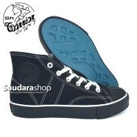 Sepatu Warrior Classic High ALLblack / Warrior All Black Tinggi