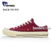 Sepatu Ventela BACK TO 70's Maroon Low / Ventela 70s Marun Low