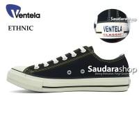 Sepatu Ventela Ethnic Black Natural Low / Ventela Ethnic Black Natural