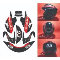 Decal Sticker Body Helm Ink Dynamic Convert to Shoei Jforce 4