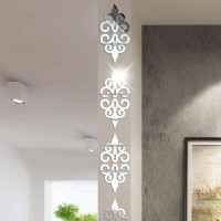 DIY Stiker Dinding Cermin Dekorasi Rumah Akrilik Mirror Modern 10Pcs