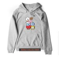 sweater hoodie wanita BT21 BTS - high quality 01