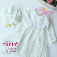 (6-24 bulan) GB RNA 11 Baju Muslim Gamis Bayi LaBella Rania White