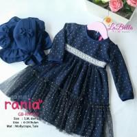 (6-24 bulan) GB RNA 10 Baju Muslim Gamis Bayi LaBella Rania Navy