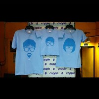 kaos keluarga / baju couple untuk keluarga / biru muda / anak unisex
