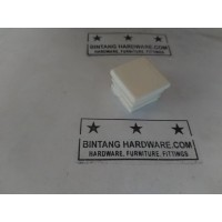 Alas Kaki Plastik Kotak Putih 20x20mm Ambalan Tatakan Kaki Meja Kursi