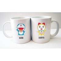 Gelas Mug Couple Pasangan Doraemon - Hadiah / Kado Pacar - By Crion