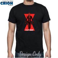 Kaos Black Widow - Black Widow Movie Logo - By Crion