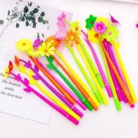 Grocely PP51 pulpen gel motif bunga lucu imut / bolpen gel karakter