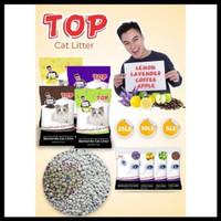 pasir kucing top cat litter bentonite gumpal wangi 25 lt (20kg)