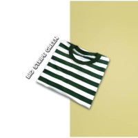 Kaos Stripe Big Stripe Green Kaos Belang-belang