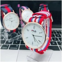 JAM TANGAN COUPLE PUTIH Canvas Fashion Jam Tangan Murah Watch Men Wome