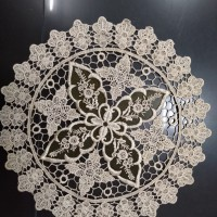 Taplak Meja Bulat Bordir diameter 40 cm