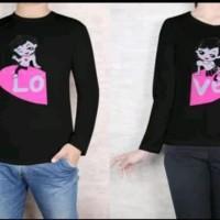 HN - Kaos Couple Lucu Lengan Panjang / Baju Pasangan