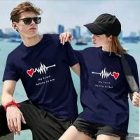 HN - Baju Couple Arrow Heart / Baju Pasangan Lengan Pendek