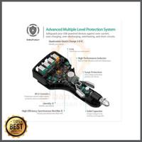 TERLARIS Aukey Fast Quick Car Charger 3 0 Qualcomm 4 USB Port CC T9 O