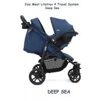 Joie Meet Litetrax 4 Travel System Deep Sea / Stroller / Kereta Bayi