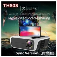 TH80S Projector Led 3000 Lumens Proyektor Led Full HD 1080P Wifi