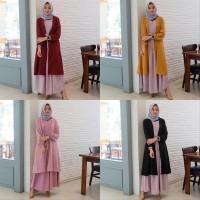 Promo Dress Maxi Caroline Maxi 2in1 - Trend Fashion Muslim 2019 Dress
