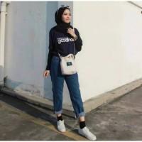 ForGirl Celana Wanita Plain Boyfriend Jeans (r)
