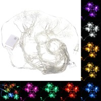 Sos 3.5 M 100LED Snowflake Ice Curtain String Peri Lampu Xmas