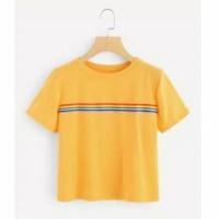 ForGirl Tshirt Pelangi (Bahan Spandek Soft / Good Quality) (r)