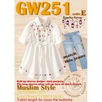 GW Muslim cantik gw 251 kode E GW Girl embroidery set jeans