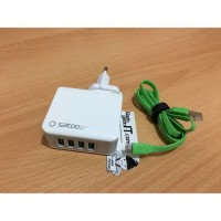 SATOO Adaptor Super Fast Charger SUA-LD401 USB HUB 4 Port USB 4.2A .